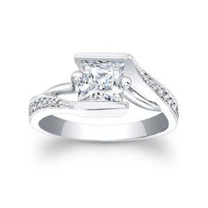 Jewelry - 4 ct Princess and round cut diamonds engagement